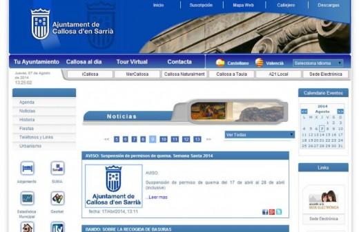 ayuntamiento callosa diseño web