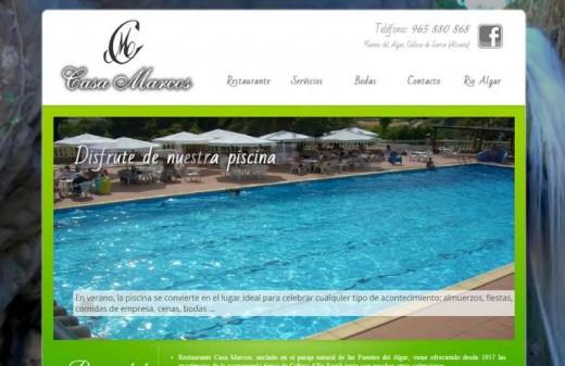 restaurante casa marcos diseño web