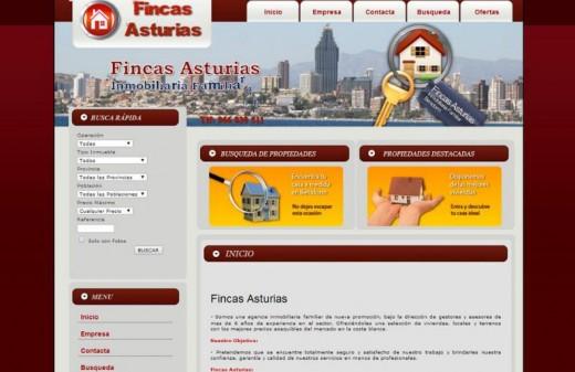 inmobiliaria fincas asturias diseño web