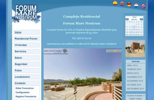 forum marenostrum diseño web antiguo