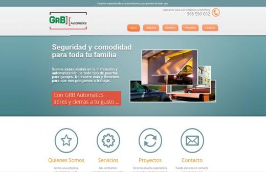 grb automatics diseño web benidorm
