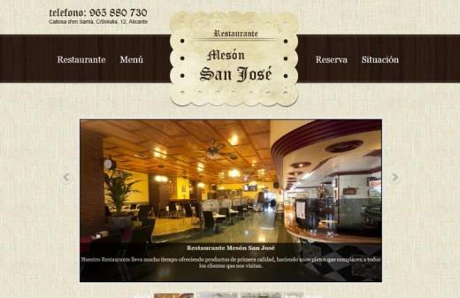 restaurante meson san jose diseño web