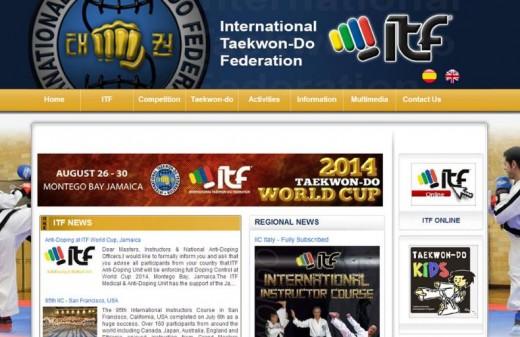 old web page taekwondo