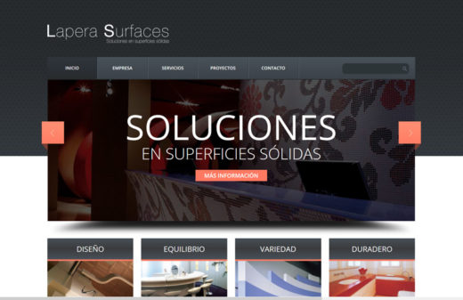 lapera surfaces diseño web