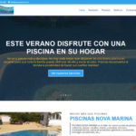 piscinas nova marina diseño web