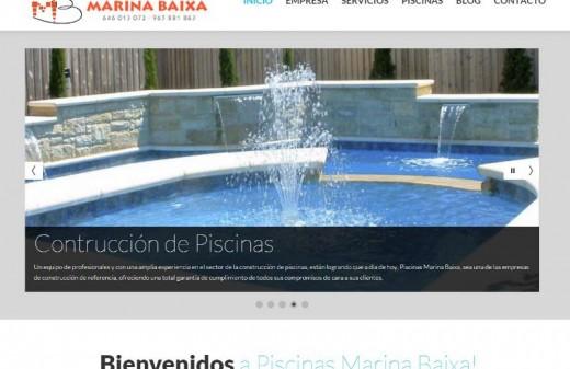piscinas marina baixa diseño web