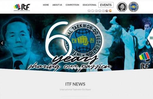 taekwondo diseño web