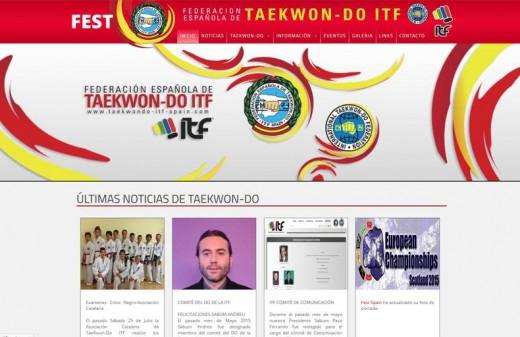 federacion española de taekwondo diseño web