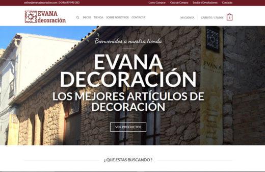 evana decoracion diseño web